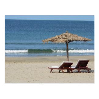 Sonne, Strand und Meer Postkarte