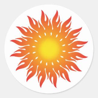 Sonne sun runder aufkleber