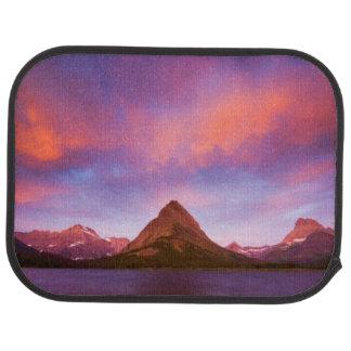 Sonnenaufgang am Gletscher Autofußmatte