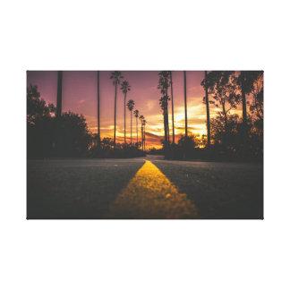 Sonnenaufgang der Straßen-| des Sonnenuntergang-| Leinwanddruck