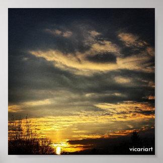 Sonnenaufgang-Foto-Plakat Poster