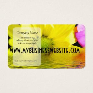 Sonnenaufgang-gelbes Gänseblümchen Visitenkarte