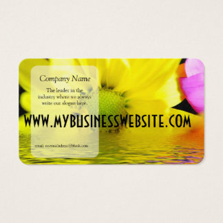 Sonnenaufgang-gelbes Gänseblümchen Visitenkarten