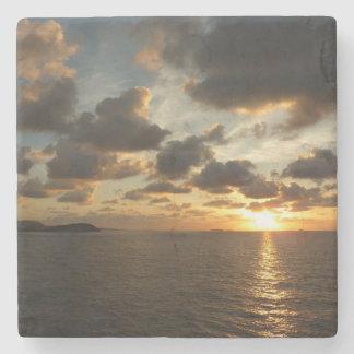 Sonnenaufgang in den Jungferninseln St Thomas I US Steinuntersetzer