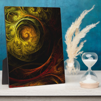 Sonnenaufgang-rote abstrakte Kunst-mit Fotoplatte