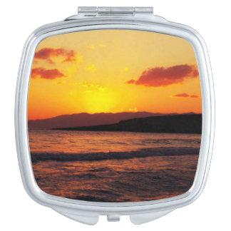 Sonnenaufgang-Sonnenuntergang-Feiertags-Reise Taschenspiegel