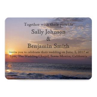 Sonnenaufgang-Strand-Hochzeit 12,7 X 17,8 Cm Einladungskarte