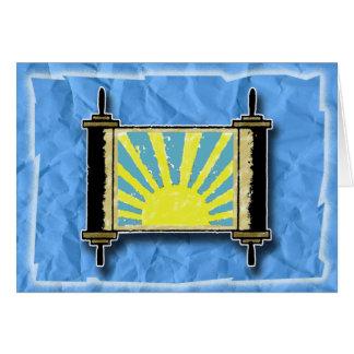Sonnenaufgang Torah Gruß-Karte Karte