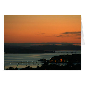 Sonnenaufgang über Auckland Karte