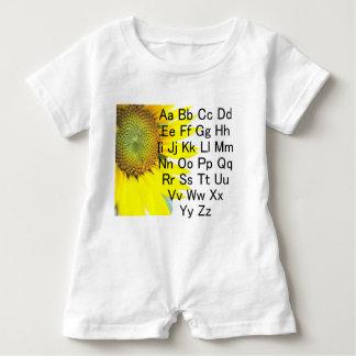 Sonnenblume-Alphabetdiagramm Baby Strampler