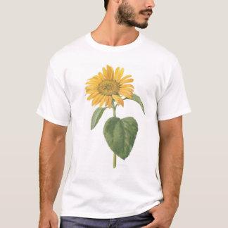Sonnenblume auf Weiß T-Shirt