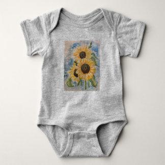 Sonnenblume-Baby Jersey Baby Strampler