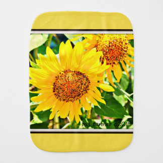 Sonnenblume-Babyburp-Stoff Spucktücher