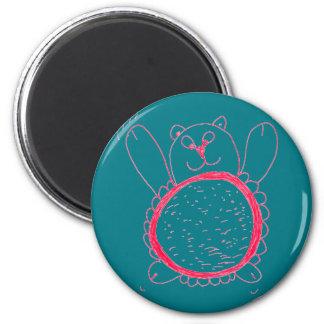 Sonnenblume-Bärn-runder Magnet Runder Magnet 5,1 Cm