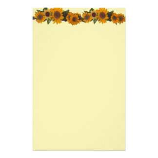 Sonnenblume-Briefpapier Büropapier