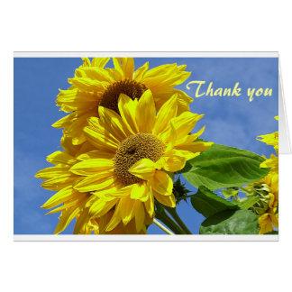 Sonnenblume danken Ihnen Grußkarte