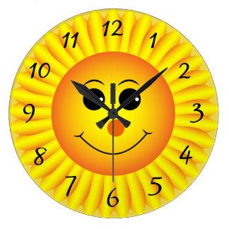 Sonnenblume Emoji stellen gegenüber Große Wanduhr