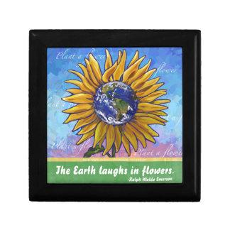 Sonnenblume-Erdkunst Erinnerungskiste
