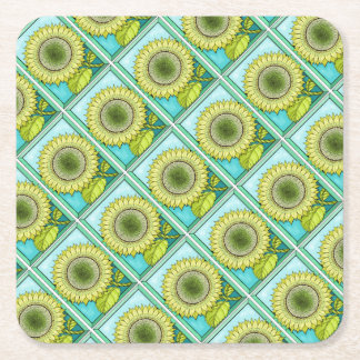 Sonnenblume-Farbe Rechteckiger Pappuntersetzer