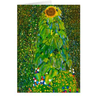 Sonnenblume-Gruß-Karte Gustav Klimt Karte