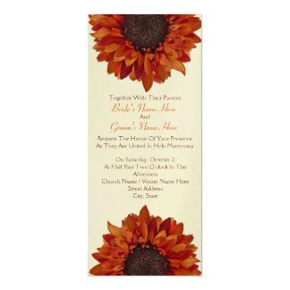 Sonnenblume-Hochzeit laden - zusammen mit Eltern 10,2 X 23,5 Cm Einladungskarte