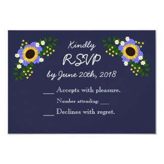 Sonnenblume-Hochzeits-Wartekarte 8,9 X 12,7 Cm Einladungskarte