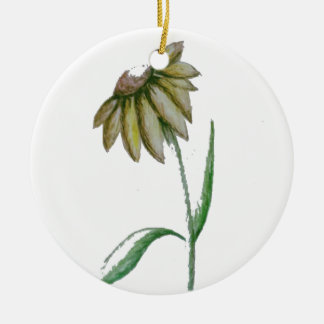 Sonnenblume Keramik Ornament