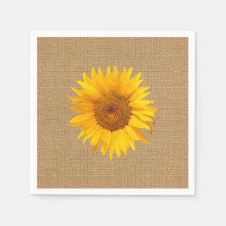 Sonnenblume-Leinwand-Hintergrund Papierserviette