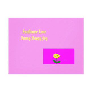Sonnenblume-Liebe Gespannte Galerie Drucke