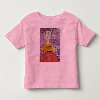 Sonnenblume-Mädchen Kleinkinder T-shirt