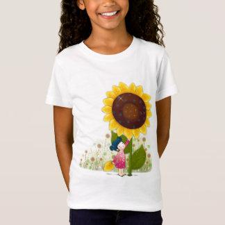 Sonnenblume-Mädchen-Shirt T-Shirt