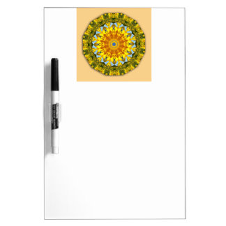 Sonnenblume-Natur, Blume-Mandala 003 Trockenlöschtafel