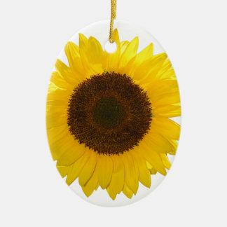 Sonnenblume Ovales Keramik Ornament