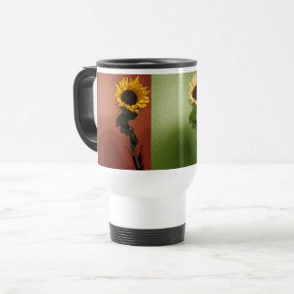 Sonnenblume-Pop-Kunst-Fotoeleganter Chic schön Reisebecher