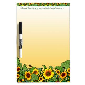 Sonnenblume-Rolle Trockenlöschtafel
