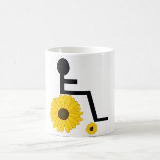 Sonnenblume-Rollstuhl Kaffeetasse