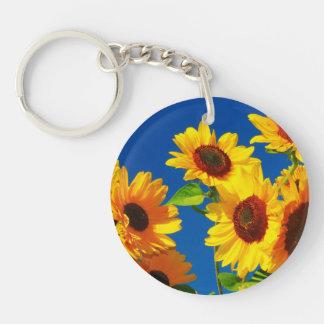 Sonnenblume-Ruhm Schlüsselanhänger
