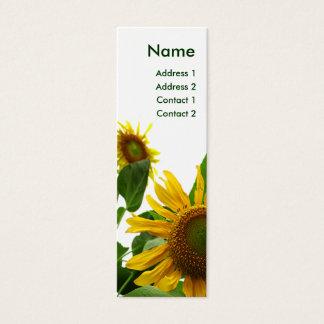 Sonnenblume-Visitenkarte Mini-Visitenkarten