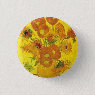 Sonnenblumen durch Vincent van Gogh Runder Button 2,5 Cm