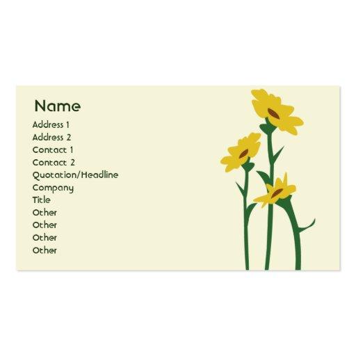 Sonnenblumen gesch ft visitenkarten zazzle for Visitenkarten gratis vorlagen