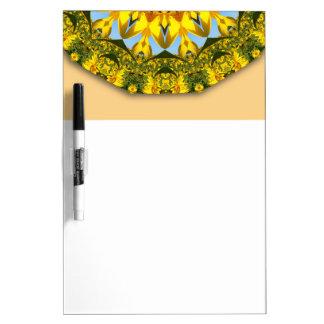 Sonnenblumen, Natur-Mandala 004 04,1 (Sonnenblume) Memoboard