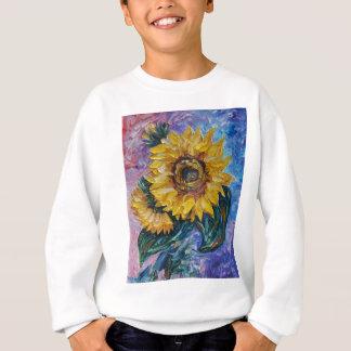 Sonnenblumen (Paletten-Messer) Sweatshirt
