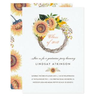 Sonnenblumen winden rustikales 12,7 x 17,8 cm einladungskarte