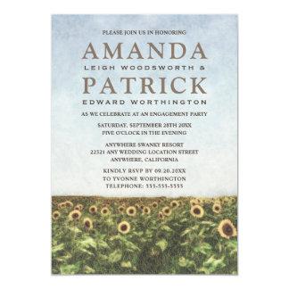 Sonnenblumewatercolor-Verlobungs-Party Einladungen