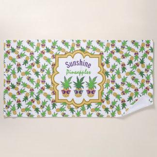 Sonnenschein-Ananas-Muster Strandtuch