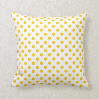 Sonnenschein-gelbe Tupfen Kissen