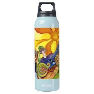 Sonnenschein-Traumgarten der Freuden-Kunst Isolierte Flasche