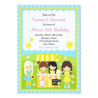 Sonnenschein-und Limonade-Geburtstag 12,7 X 17,8 Cm Einladungskarte