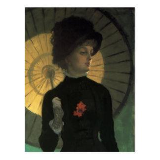 Sonnenschirm-Postkarte James Tissots Newton Postkarte