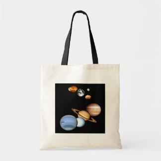 Sonnensystem-Planeten-Tasche Budget Stoffbeutel